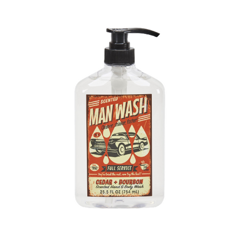 Cedar & Bourbon Liquid Man Soap