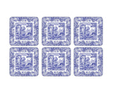 Spode Blue Italian Coasters Set of 6