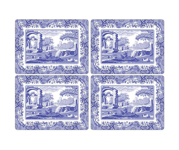Spode Blue Italian Placemats Set of 4