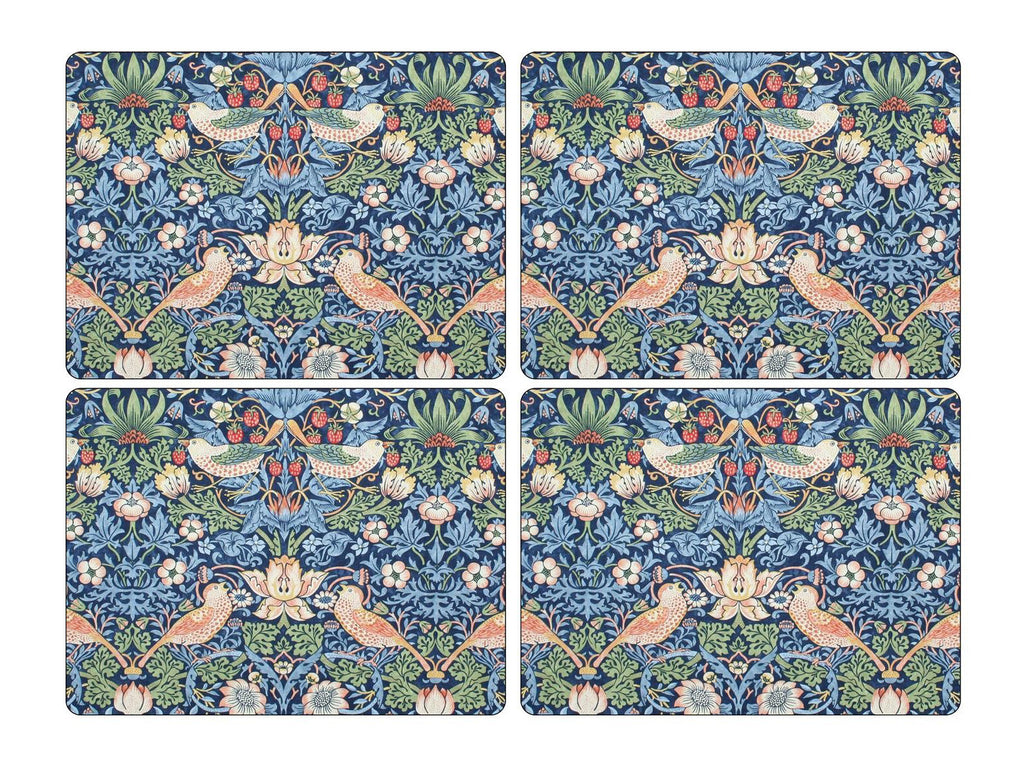 Pimpernel William Morris Strawberry Thief Blue Placemats Set of 4