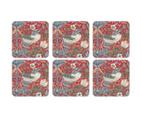 Pimpernel William Morris Strawberry Thief Red Coasters Set of 6