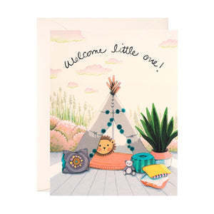 Welcome Little One Greeting Card