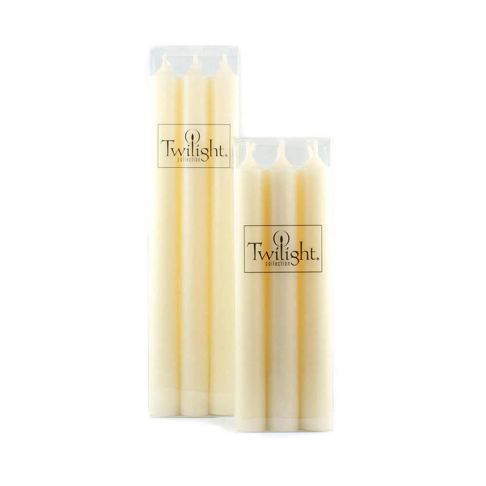 Set of 6 Ivory Candles