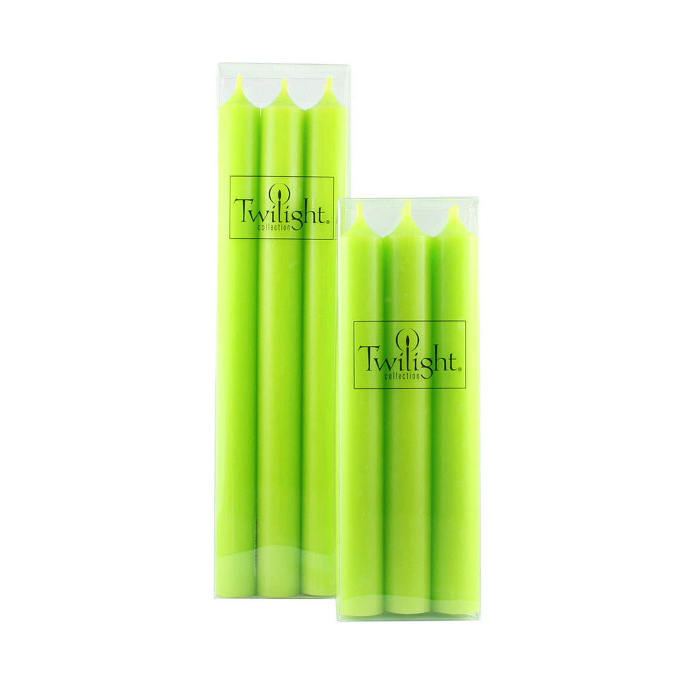Set of 6 Lime Green Candles