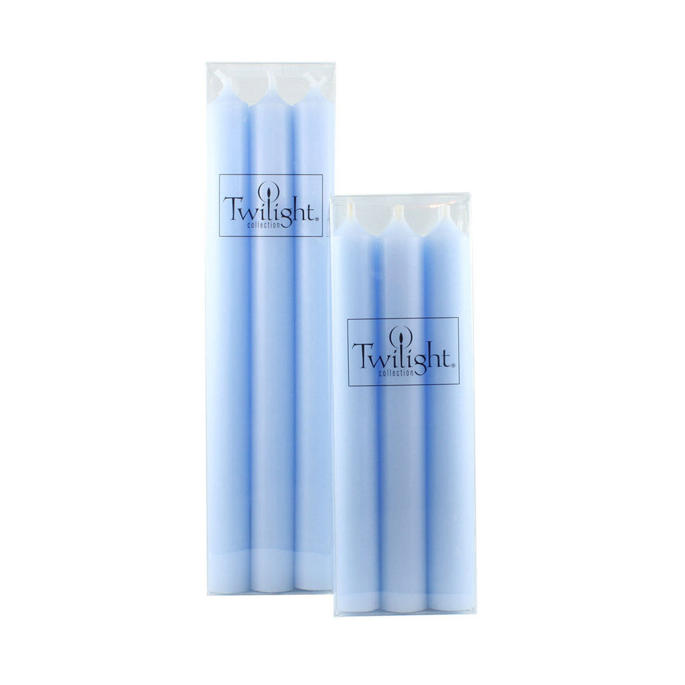 Set of 6 Ocean Blue Candles