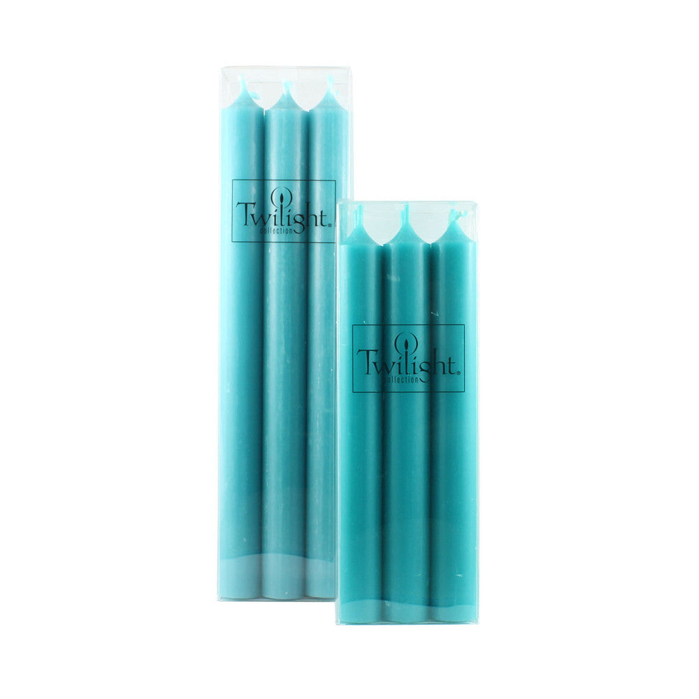 Set of 6 Turquoise Candles