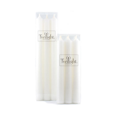 Set of 6 White Candles