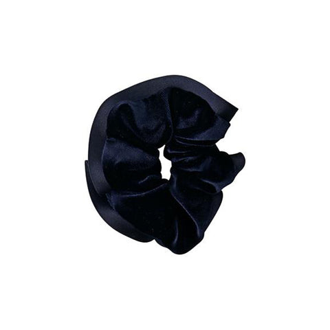 Scrunchie With Satin Trim - Navy