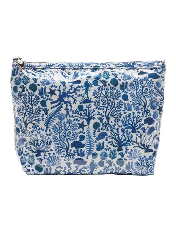 Blue & White Toiletry Bag