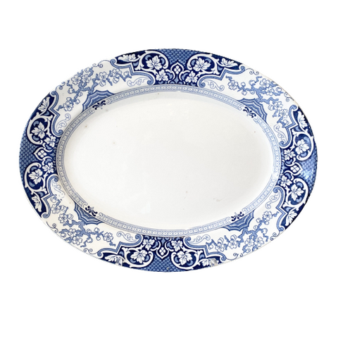 Vintage Ceramic Blue & White Platter