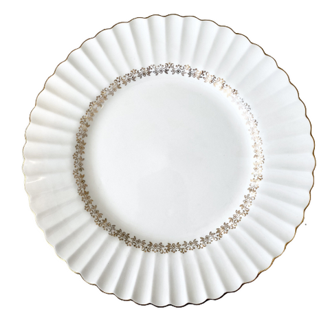 Vintage Meakin Classic White Dinner Plates