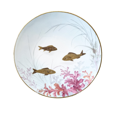 Vintage Swimming Fish Plate