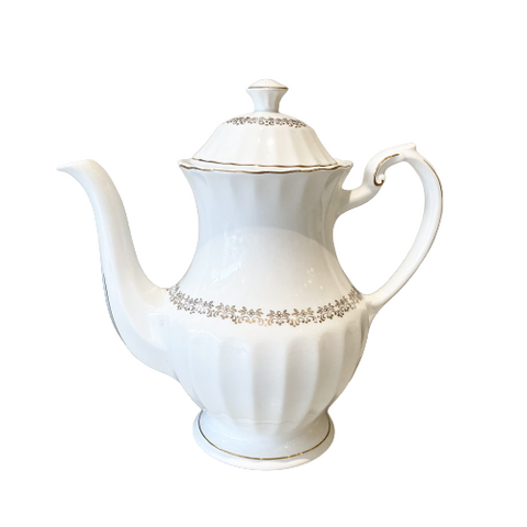 Vintage Meakin Classic White Teapot