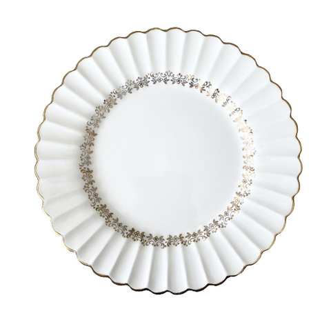 Vintage Meakin Classic White Lunch Plates