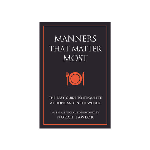 Manners That Matter Most Book