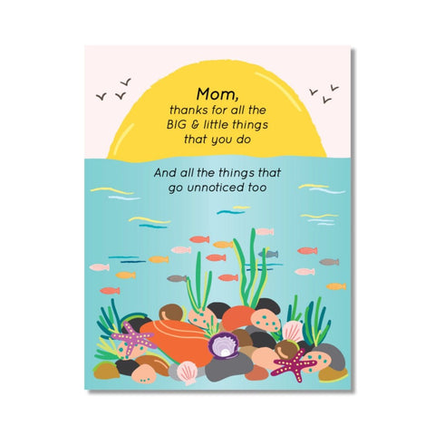 Mom, Thanks for all The Big & Little Things You Do Greeting Card