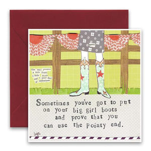 Big Girl Boots Greeting Card