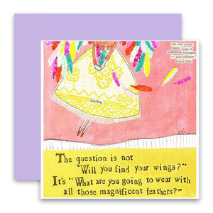 Magnificent Feathers Greeting Card