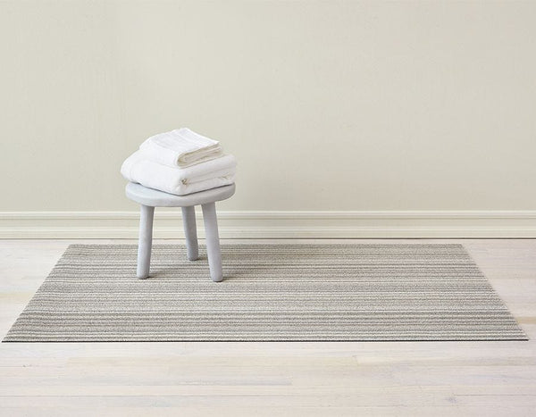 Chilewich Skinny Stripe Shag Floor Mat - Birch