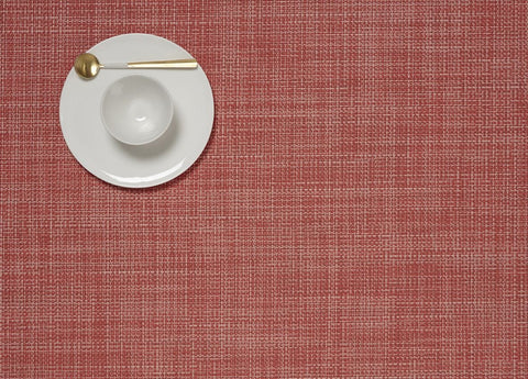 Chilewich Mini Basketweave Rectangle Placemat - Guava