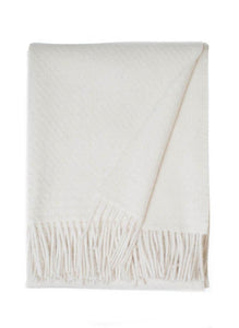 Ivory White Alpaca Throw