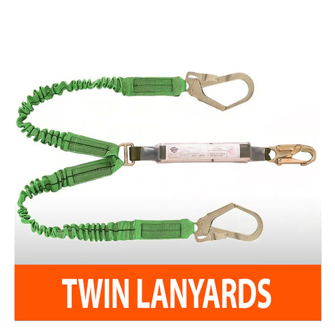 Twin fall-arrest lanyards
