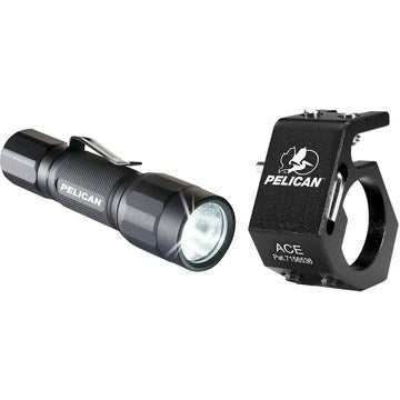 Pelican 2350 Combo, Led/Ace Helmet Holder - Black