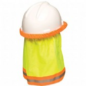 MSA SUNSHADE Cap Yellow Hi Vis with Reflective Stripe