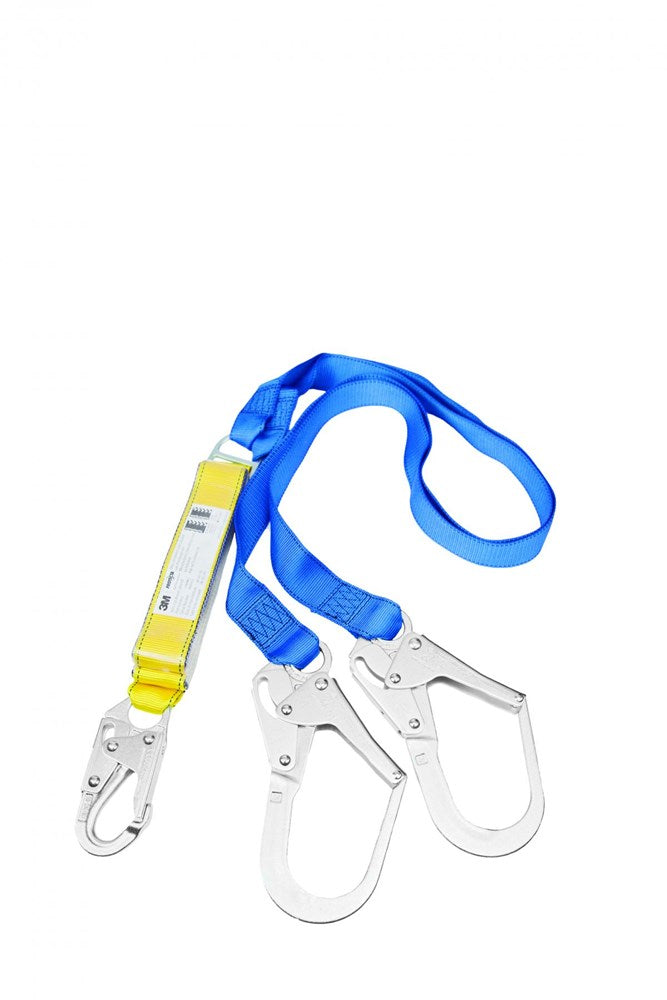 Protecta First Twin Tail EZ-Stop Shock Absorbing Lanyard w/scaffold hook 2 m