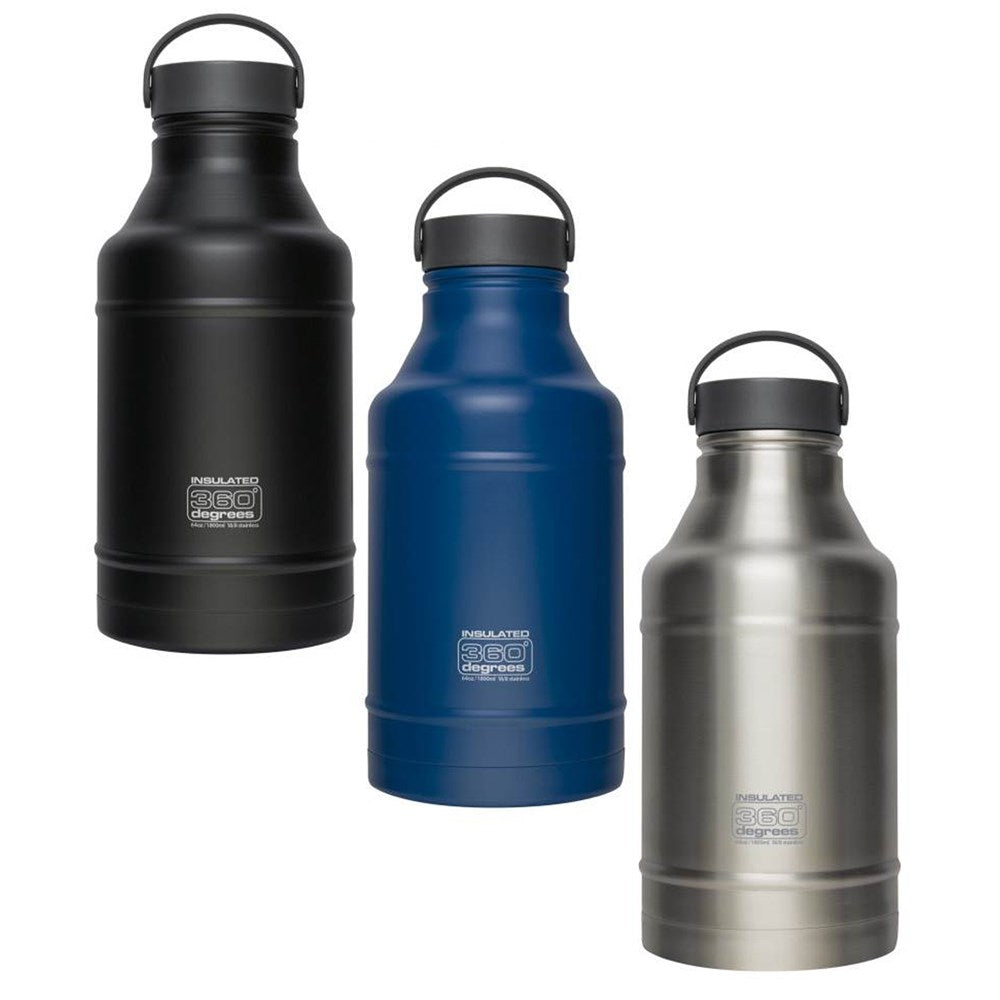 360 DEGREES Growler 1800ml Vacuum Insulated Bottle Flask