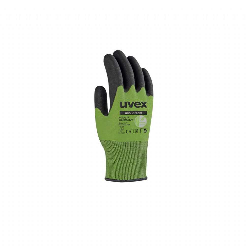 uvex D500 foam cut protection work gloves