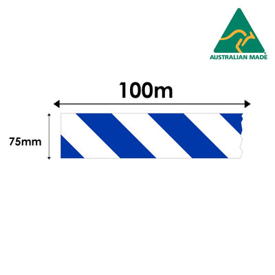 Cirlock Barrier Tape - Blue/White