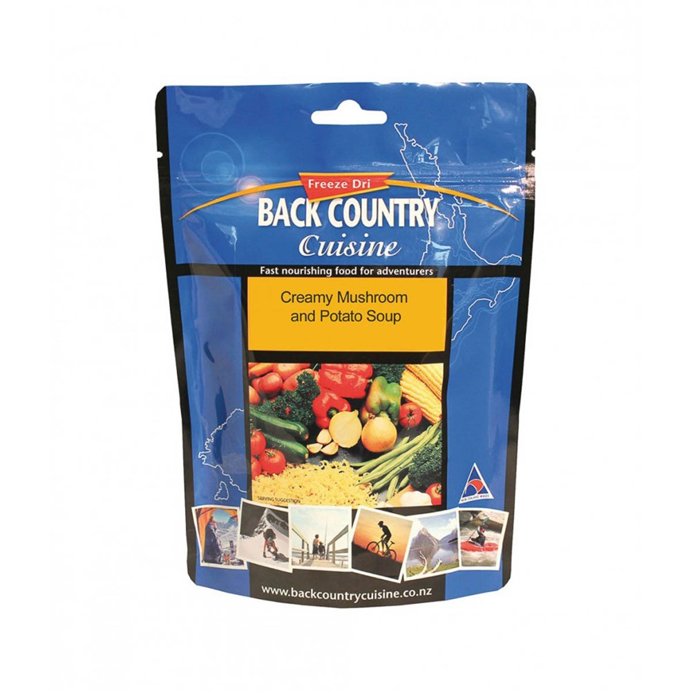 Back Country food packs - Creamy Mushroom And Potato Soup