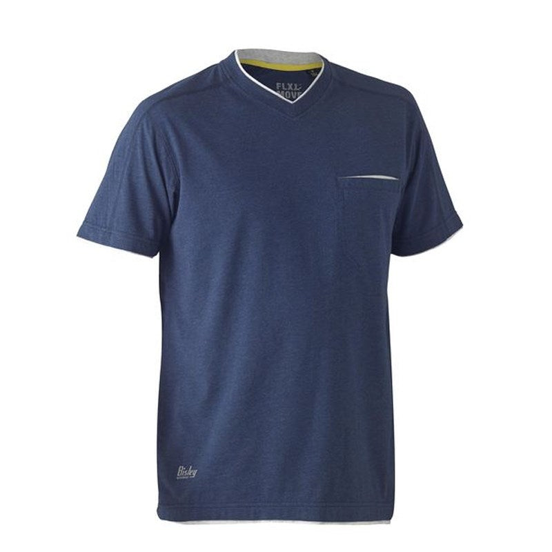 Bisley Flex & Move Cotton V Neck Tee Short Sleeve