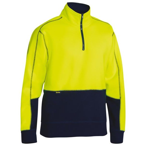 Bisley Hi Vis Fleece Zip Pullover