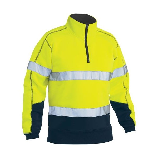 Bisley Taped Hi Vis Fleece Zip Pullover
