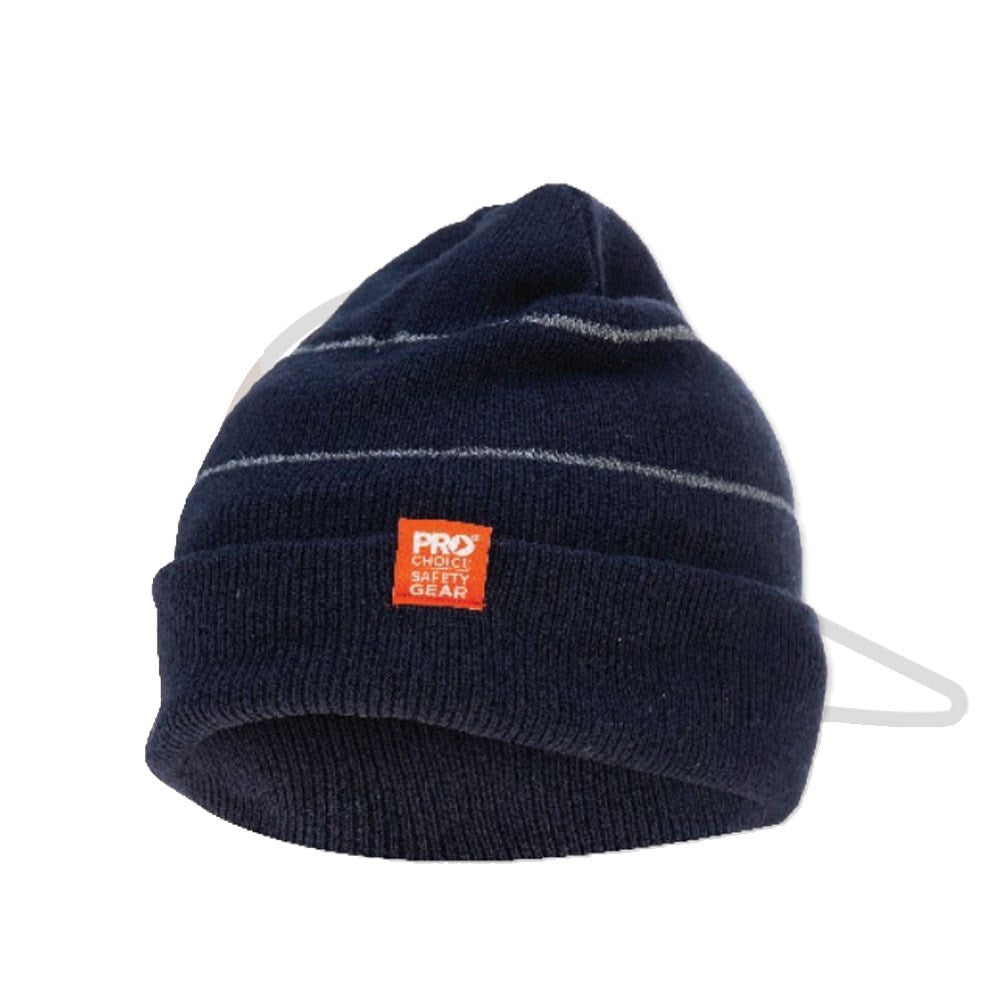 Pro Choice Hi-Vis Beanie with Retro-reflective Stripes
