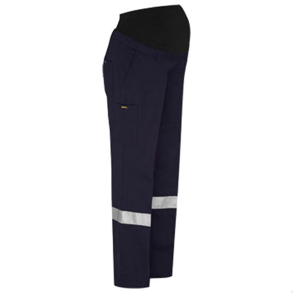 Bisley Womens 3M Taped Maternity Drill Work Pant