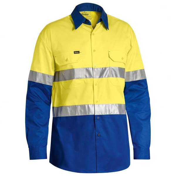 Bisley 3M Taped Cool Lightweight Hi Vis Shirt Long sleeve