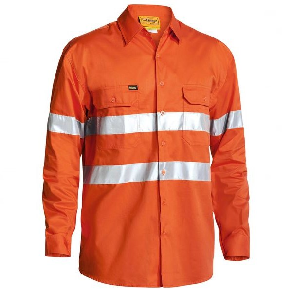 Bisley Cool Lightweight Hi Vis Drill Shirt