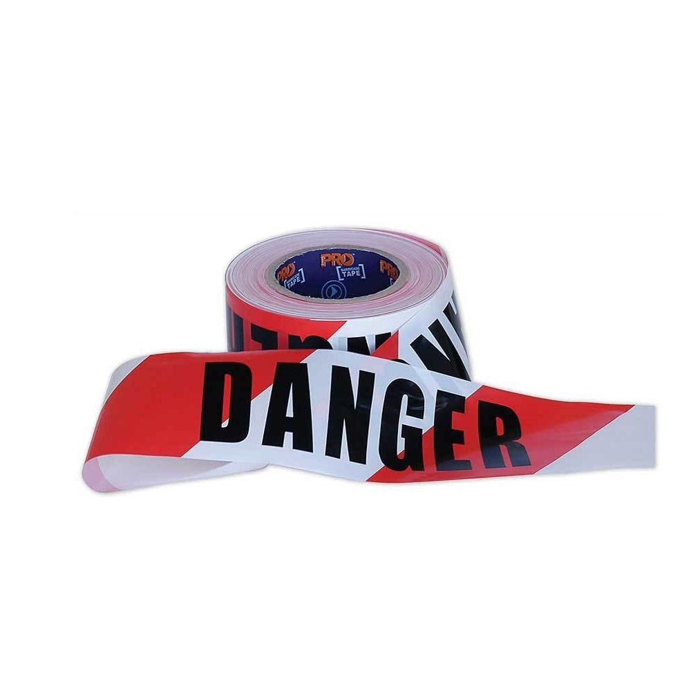 """DANGER"" on Red/White Hazard Tape"