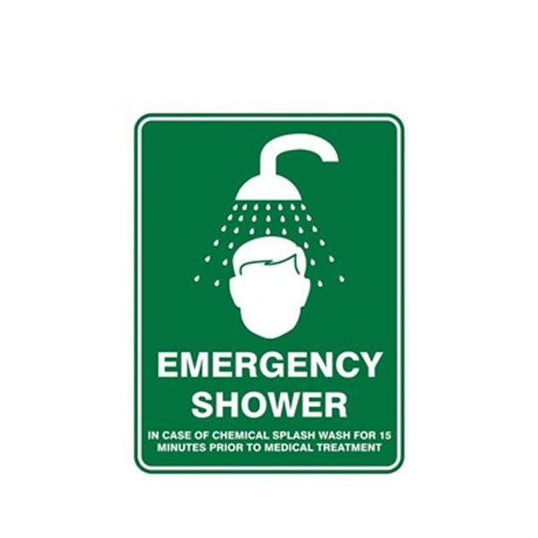 Emergency Shower Pic Sign 450x300