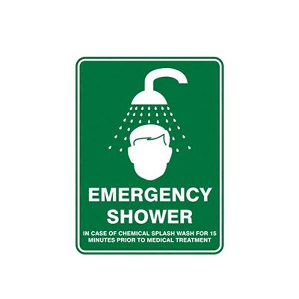 Emergency Shower Pic Sign 600x450