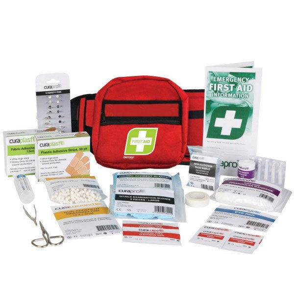 FastAid First Aid Kit Motorist Kit (Soft Pack or Bum Bag)