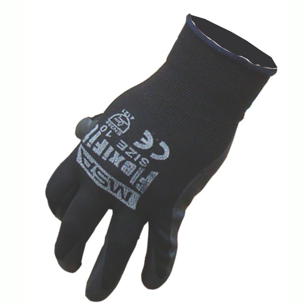 MSA Flexifit Foam Nitrile Gloves - Black