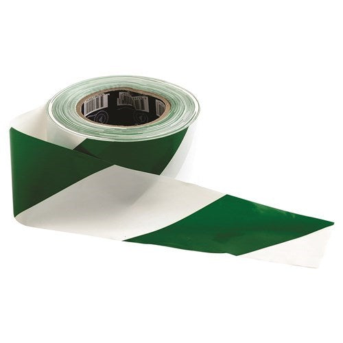 Green/White Hazard Tape
