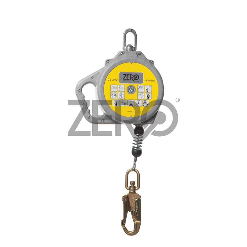 ZERO Retractable Wire Rope Lanyard with Snap Hook