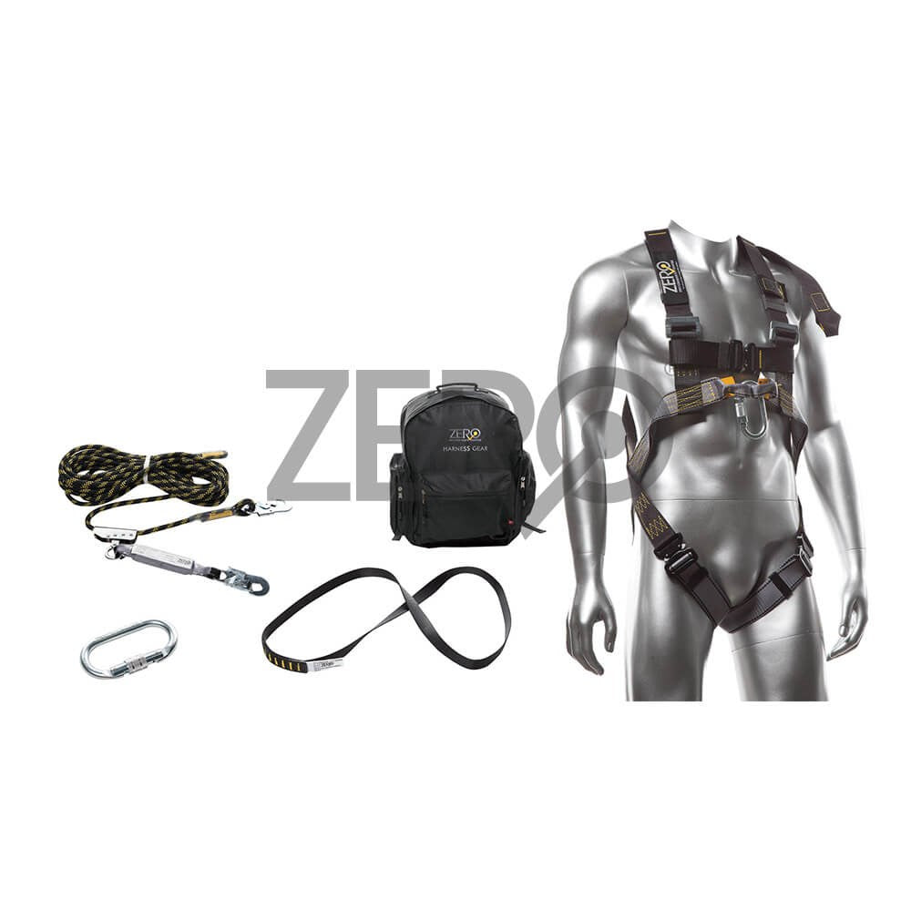 ZERO Multipurpose Roofers Harness Kit, 15M Rope Line