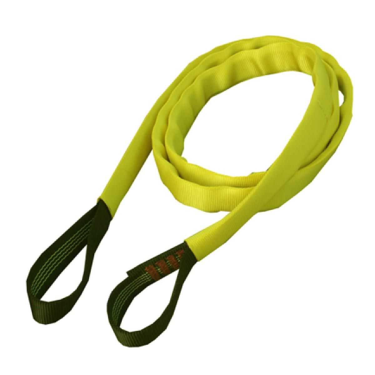 Lyon Soft Sling with Sleeve 1.2m x25mm 30kN Black/Yellow