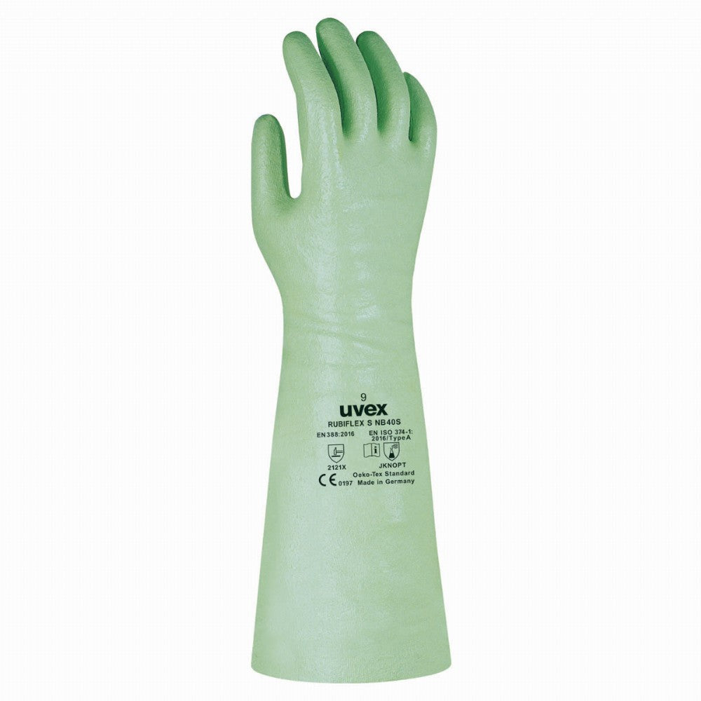 uvex rubiflex S chemical protection work gloves